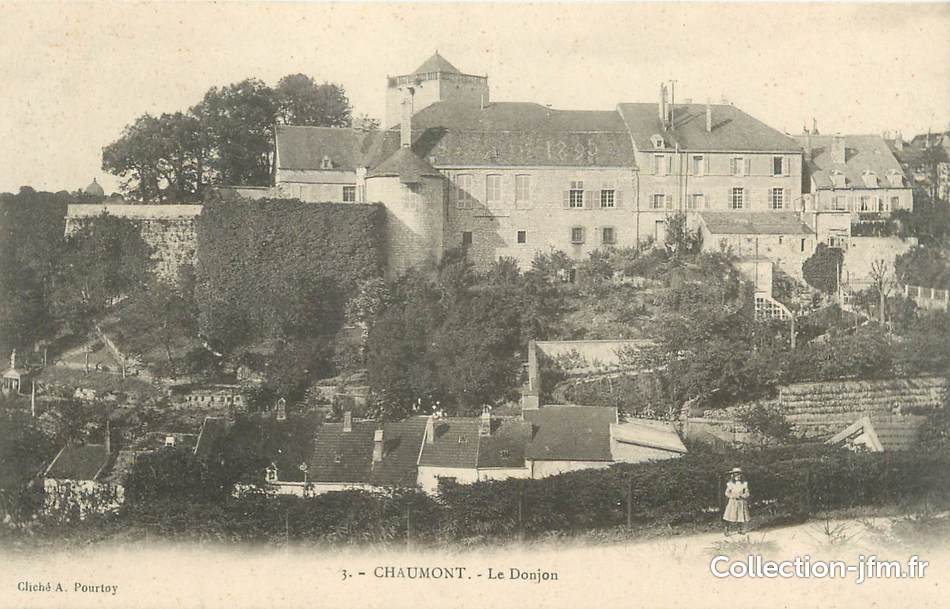 Cpa france 52 chaumont le donjon 52 haute marne for 52 haute marne