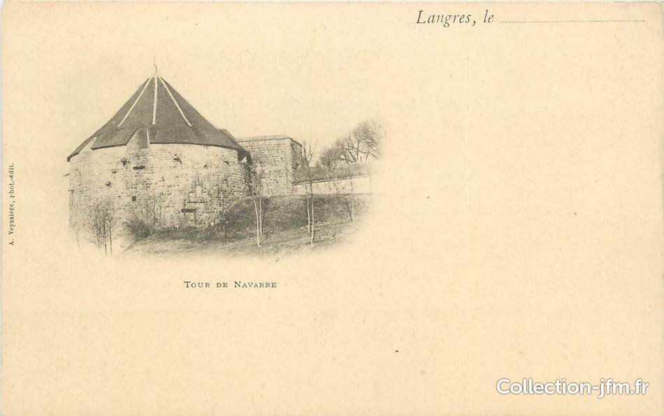 Cpa france 52 langres la tour de navarre 52 haute for 52 haute marne