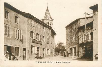 """CPA FRANCE 42 """" Virigneux, Place du centre"""""""