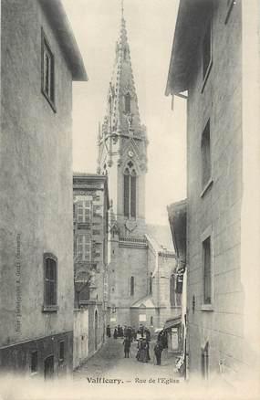"""CPA FRANCE 42 """" Valfleury, La rue de l'église"""""""