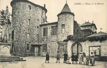 """CPA FRANCE 43 """" Aurec, Place de la Mairie"""""""