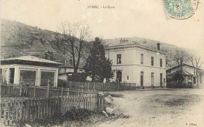 "CPA FRANCE 43 "" Aurec, La gare"""