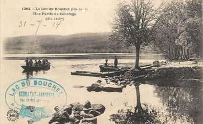 """CPA FRANCE 43 """" Le Lac du Bouchet, Une partie de canotage"""""""