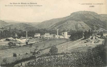 """CPA FRANCE 43 """" Blesle ou Babory, La gare, les usines d'Antimoine eet les Orgues Basaltiques"""""""