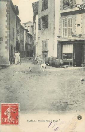 "CPA FRANCE 43 "" Blesle, La Rue du Portail Neuf"""