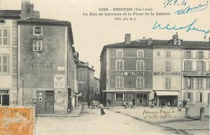 """CPA FRANCE 43 """" Brioude, La Rue de Lorraine et la Place de la Liberté"""""""