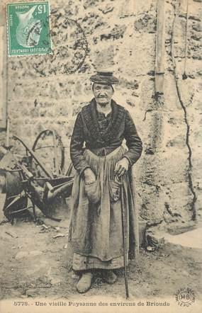 "CPA FRANCE 43 "" Brioude, Une vieille paysanne "" / FOLKLORE"