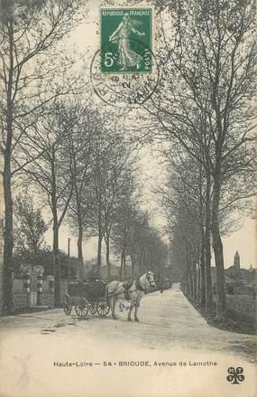 "CPA FRANCE 43 "" Brioude, Avenue de Lamothe"""