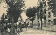 """43 Haute Loire CPA FRANCE 43 """" La Chaise Dieu, Avenue de la Gare, la Gendarmerie sur la Route de Nimes à Moulins"""""""