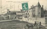 """43 Haute Loire CPA FRANCE 43 """" La Chaise Dieu, Avenue de la gare, perspective de l'abbaye"""""""