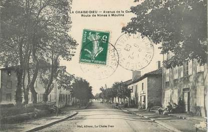 "CPA FRANCE 43 "" La Chaise Dieu, Avenue de la Gare"""