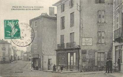 """CPA FRANCE 43 """" Craponne sur Arzon, Place du Faubourg Constant"""""""