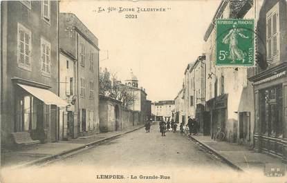 "CPA FRANCE 43 ""Lempdes, La grande rue"""