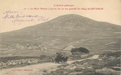 """CPA FRANCE 43 """" Les Estables, Vue générale du village et le Mont Mezenc"""""""