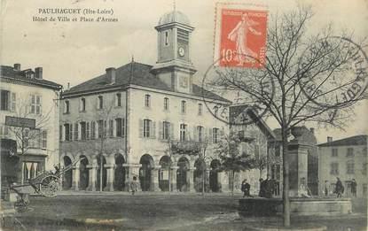 """CPA FRANCE 43 """" Paulhaguet, Hôtel de Ville et Place d'Armes"""""""