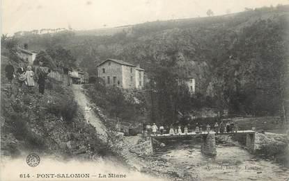 """CPA FRANCE 43 """" Pont Salomon, La Miane"""""""
