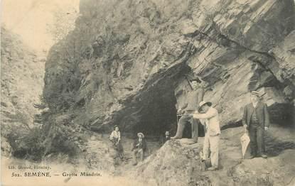 "CPA FRANCE 43 "" Semène, Grotte Mandrin"""