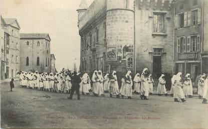"""CPA FRANCE 43 """" Yssingeaux, Procession des Pénitents, Les Rameaux"""""""