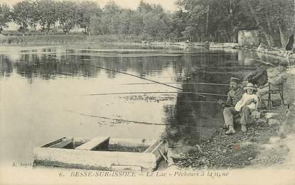 """CPA FRANCE 83 """" Besse sur Issole, Les pêcheurs à la ligne au lac"""""""