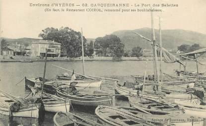 """CPA FRANCE 83 """" Carqueiranne, Le port des Salettes"""""""