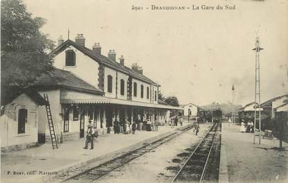 """CPA FRANCE 83 """" Draguignan, La Gare du Sud"""""""