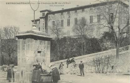 """CPA FRANCE 83 """" Entrecasteaux, Le Château de Mr de Lubac"""""""