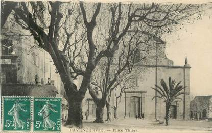 "CPA FRANCE 83 "" Fayence, Place Thiers"""