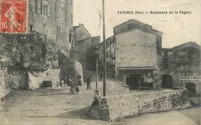"CPA FRANCE 83 "" Fayence, Boulevard de la Pégère"""