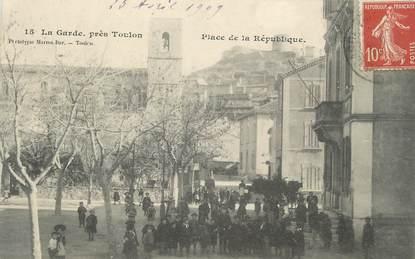 """CPA FRANCE 83 """" La Garde, Place de la République"""""""