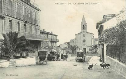"""CPA FRANCE 83 """"La Presqu'île de Giens, La Place du Château"""""""