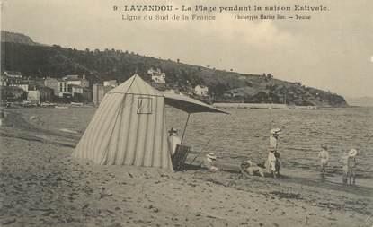 """CPA FRANCE 83 """"Le Lavandou, La plage"""""""