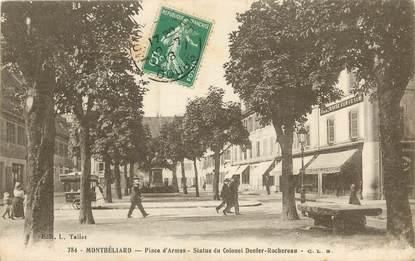 """CPA FRANCE 25 """"Montbéliard, Place d'Armes"""""""