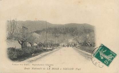 """CPA FRANCE 83 """" La Mole, La route nationale menant à Toulon"""""""