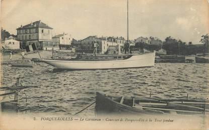 "CPA FRANCE 83 ""Ile de Porquerolles, Le cormoran"""
