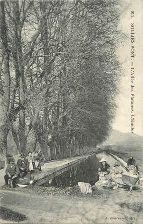 "CPA FRANCE 83 ""Solliès Pont, L'Allée des Platanes, l'enclos"""