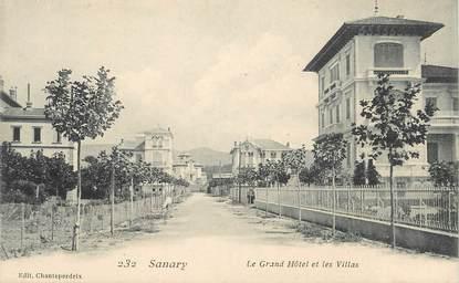 """CPA FRANCE 83 """"Sanary, Le Grand Hôtel et les Villas"""""""