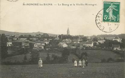 """/ CPA FRANCE 58 """"Saint Honoré les Bains, le bourg et la vieille montagne"""""""