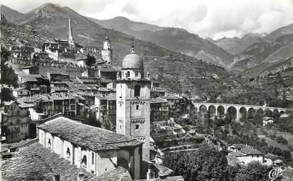 """/ CPSM FRANCE 06 """"Tende, la Cathédrale et la vieille ville"""""""