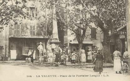"""CPA FRANCE 83 """" La Valette, Place de la Fontaine Longue"""""""