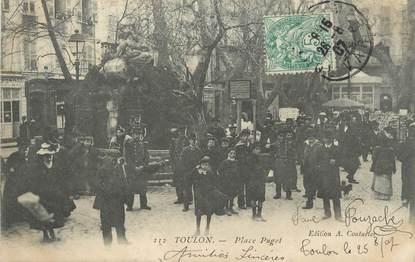 "CPA FRANCE 83 "" Toulon, Place Puget"