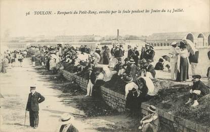 """CPA FRANCE 83 """" Toulon, Remparts du Petit Rang"""""""