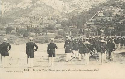 """CPA FRANCE 83 """" Toulon, Revue de l'armée navale"""""""