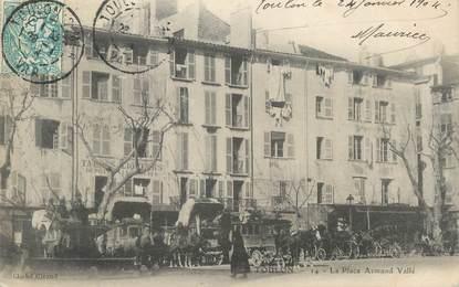 """CPA FRANCE 83 """" Toulon, La Place Armand Vallé"""""""