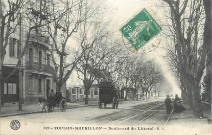 """CPA FRANCE 83 """" Toulon - Mourillon, Le Boulevard du Littoral"""""""