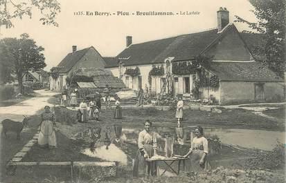 """CPA FRANCE 18 """" Plou - Brouillamnon, Le Lavoir"""""""