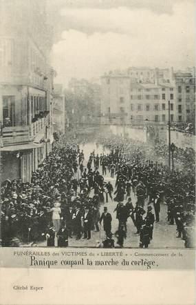"""CPA FRANCE 83 """"Toulon, Funérailles des victimes du Liberté"""""""