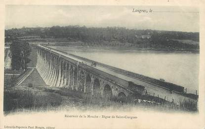 """CPA FRANCE 52 """" Langres, Réservoir de la Mouche , digue de St Ciergues"""""""