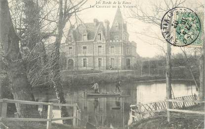 """CPA FRANCE 35 """"Sur les bords de la Rance, Le Château de Vicomté"""""""