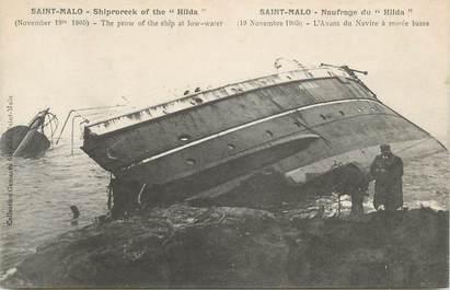 "CPA FRANCE 35 ""St Malo, Le Naufrage du Hilda """