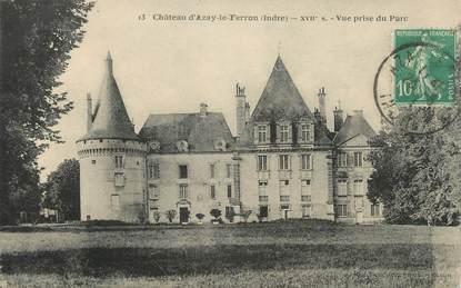 """CPA FRANCE 36 """" Azay le Ferron, Le château"""""""